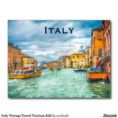 Italy Vintage Travel Tourism Add Postcard