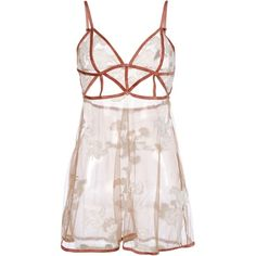 For Love & Lemons Slip ($135) ❤ liked on Polyvore featuring intimates, shapewear, dresses, lingerie and skin colour