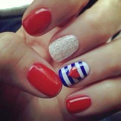 Memorial Day is United States federal holiday; people celebrate with it every year on last Monday in May. Here you will find best Memorial Day nail art designs. Short Nail Designs, Cute Nail Designs, Fingernail Designs, Pretty Designs, Easy Designs, Awesome Designs, Design Ongles Courts, Patriotic Nails, Patriotic Crafts