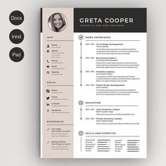 ResumeCv  Cover Letter By Vanroem On Creative Market  Creative