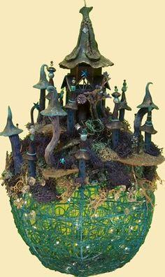 groen kasteel bol naar voorbeeld van de efteling