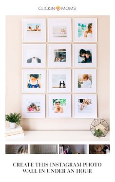 Creating a photo wall is so incredibly easy, and if you have your own home printer, you can finish this fun project in under an hour!