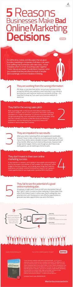 5 razones por las que empresas toman malas decisiones en marketing online