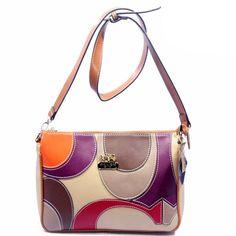 #COACHBAGS Coach Poppy Op Art Medium Orange Ivory Crossbody Bags DXJ