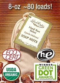 Soap Nuts are the dried fruit of the Soap Berry tree. They are a perfect organic detergent that is a 100% natural alternative to harsh chemical detergents and cleaners. Soap Nuts are eco-friendly, biodegradable, hypoallergenic, unscented and highly effective. They also offer a plethora of other household cleaning solutions - all totally chemical-free!