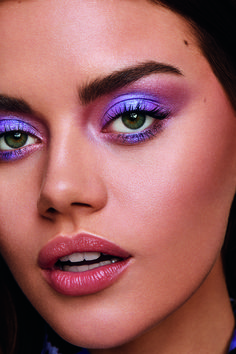 Makeup Eye Looks, Purple Eye Makeup, Beautiful Eye Makeup, Cute Makeup, Pretty Makeup, Cute Eyeshadow Looks, Purple Makeup Looks, Bright Makeup, Eyeshadow Makeup