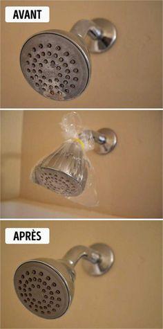 pour enlever le calcaire sur les pommeaux de douche, le calcaire est idéal