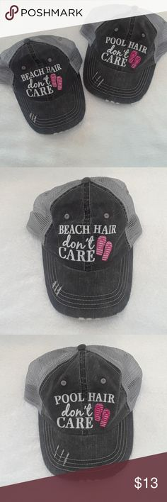 Two hats! Buy one or both Beach/Pool unknown Accessories Hats