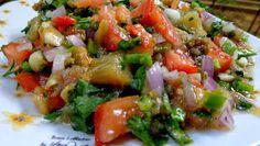 ΜΑΓΕΙΡΙΚΗ ΚΑΙ ΣΥΝΤΑΓΕΣ: Mελιτζανοσαλάτα απίθανη !!! Vegetable Sides, Vegetable Recipes, Vegetarian Recipes, Cooking Recipes, Appetizer Recipes, Salad Recipes, Dips, Greek Dishes, Happy Foods