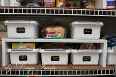 Keep Your Pantry Organized .... To see more: http://diydesignfanatic.blogspot.com/2012/08/keep-your-pantry-organized.html