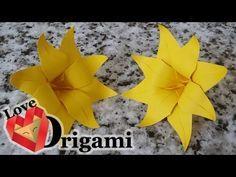 Origami 8 Petal Flower Tutorial - YouTube
