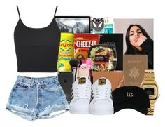 """""""2:33 am"""" by kayxxx ❤ liked on Polyvore featuring Royce Leather, Mead, MICHAEL Michael Kors, Casio, adidas and Topshop"""