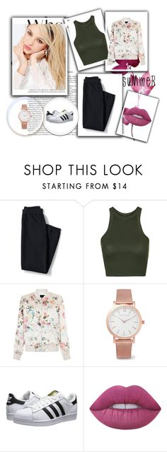"""Untitled #97"" by killerbarbiexoxo-123 on Polyvore featuring Silvana, Lands' End, Topshop, New Look, Larsson & Jennings, adidas Originals and Lime Crime"
