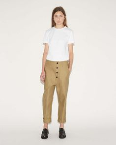 98035526ee48 SOFIE D HOORE   Pole Cotton Twill Trousers   Shop at La Garçonne  Arbeitskleidung,