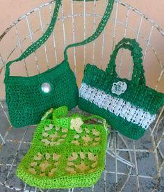crochet bags with rafia original design Maria DLS.