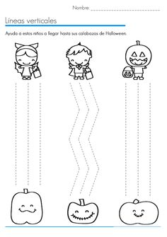 Crafts,Actvities and Worksheets for Preschool,Toddler and Kindergarten.Lots of worksheets and coloring pages. Theme Halloween, Halloween Crafts For Kids, Kids Crafts, Halloween Makeup, Preschool Writing, Preschool Worksheets, Kindergarten, Halloween Worksheets, Thanksgiving Preschool