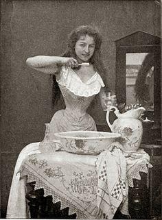 British Paintings: Cleaning her teeth