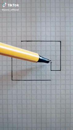 Cute Easy Drawings, Art Drawings Sketches Simple, Pencil Art Drawings, Easy Doodle Art, Doodle Art Designs, 3d Art Drawing, Diy Canvas Art, Art Tutorials, Diy Art