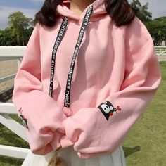 Sweet Cotton Print Puff Sleeve Hoodies Sweatshirts for Women Preppy Style, Hoodies, Sweatshirts, Types Of Sleeves, Sleeve Styles, Fashion Accessories, Graphic Sweatshirt, Plus Size, Pullover