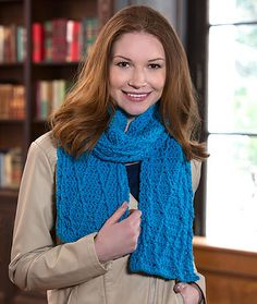 Ravelry: Cable Warm Wishes Scarf pattern by Julie Farmer