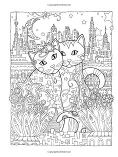 Dover Publications Creative Haven Creative Cats Coloring Book artwork by Marjorie Sarnat: Dover Publications Creative Haven Creative Cats Coloring Book artwork by Marjorie Sarnat Coloring Pages For Grown Ups, Adult Coloring Book Pages, Animal Coloring Pages, Printable Coloring Pages, Coloring For Kids, Colouring Pages, Cat Coloring Page, Doodle Coloring, Zentangle