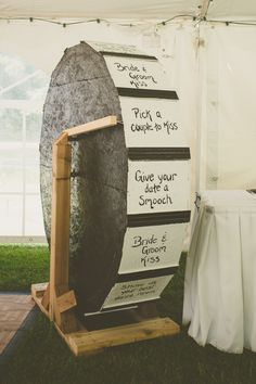 A wheel o' fun to liven up your reception. Everybody will want to spin this, we guarantee it.