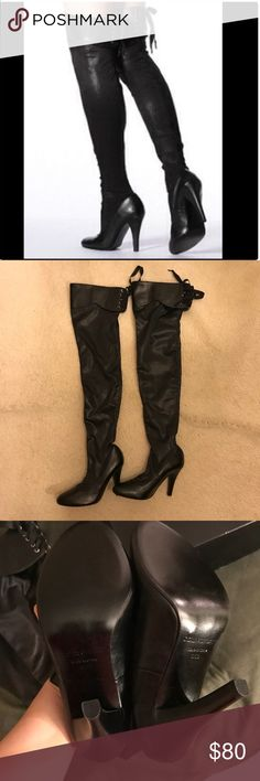 Colin Stuart NWT - Victoria's Secret Over the Knee Back Lace Up Stretch Boots by Colin Stuart. Colin Stuart Shoes Over the Knee Boots