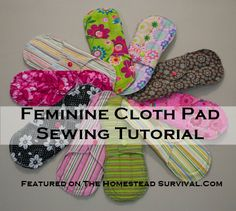 The Homestead Survival | Washable Feminine Cloth Pads Sewing Tutorial Project - Homesteading - http://thehomesteadsurvival.com