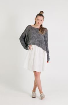 Umit Unal   Et Vous   Hand Knitted Oversized Crop