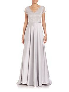 NHA KHANH - Harmony Lace-Bodice Gown