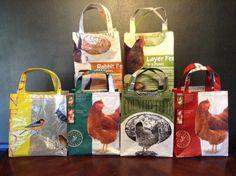 Feed Bags- Tote Bags...Custom order  RedHenCreations @ www.etsy.com/shop/RedHenCreationz