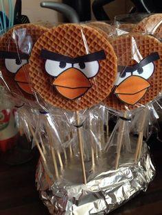 Angry bird stroopwafel
