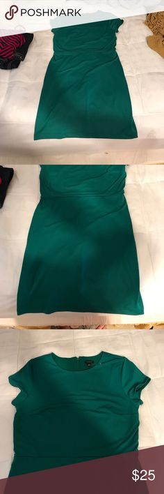 Size 10 Ann Taylor green dress New without tags's dress from Ann Taylor size 10. The stress has a zipper going down the back is super comfortable and has some stretch to it Ann Taylor Dresses