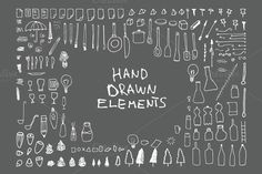 174 Hand Drawn Vector Elements v3 by Mihaly on Creative Market
