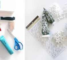Best DIY Projects For Home Decorating: DIY - Holiday, Winter Scene, Shadow Box.