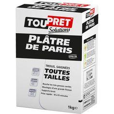 Plâtre extra fin Plâtre de Paris TOUPRET, blanc, 1 kg - 3.40 €
