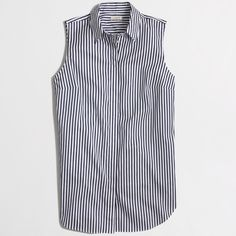 J. Crew Factory Striped Tank Super cute and perfect for layering! Would look awesome with red shorts and a denim jacket. Excellent pre worn condition. No trades!! 02616350gwb J. Crew Tops Button Down Shirts