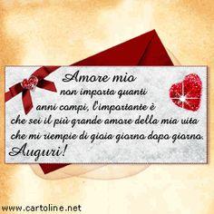Happy Birthday Italian, Happy Birthday Wishes, Italian Memes, Bff Quotes, Improve Yourself, Birthdays, Love, Gif, San Valentino