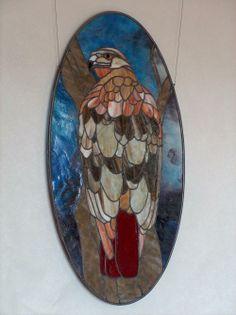 Red Tailed Hawk by Art Glass Ensembles, Denton, TX