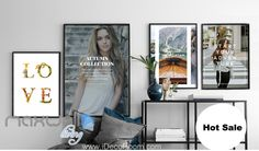 LOVE Fashion Collection Magazine Canvas Prints Wall Decals Decor Arts Unframed IDCCV-BO-000054