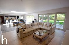 Most recent Pics Fireplace Remodel contemporary Popular Open plan Family Room with contemporary kitchen in Hale Barns Cheshire Kitchen Diner Lounge, Open Plan Kitchen Dining Living, Open Plan Kitchen Diner, Open Plan Living, Small Room Design, Family Room Design, Kitchen Family Rooms, Living Room Kitchen, Small Open Plan Kitchens