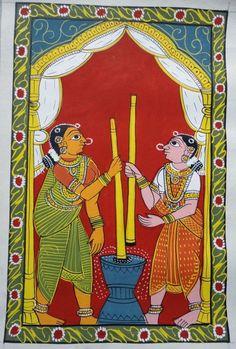 Phad Painting, Mural Painting, Mural Art, Indian Traditional Paintings, Indian Art Paintings, Madhubani Art, Madhubani Painting, Kalamkari Painting, Art Village