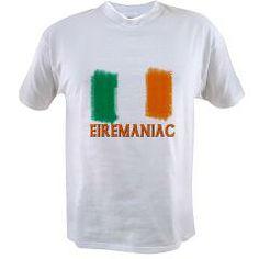 EIREMANIAC with Irish Flag Value T-shirt> EIREMANIAC with Irish flag> Leprechaun Gifts  All Things Irish