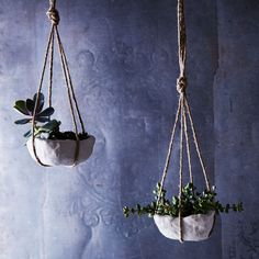 Pinch Pots Make a Comeback in DIY Air-Dry Hanging Planters on Food52