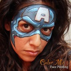 Captain America Face Painting - Color Me Face Painting