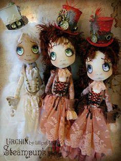 Lilliput Loft Urchin Steampunk Art Dolls by Vicki at Lilliput Loft
