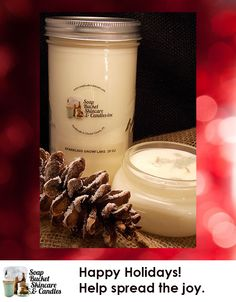 Christmas Sparkle Candle with the sparkles built right in. Our candles range in size from a modest $4.50 to an ENORMOUS $125. See our website for details.  special sale till December 5th 25% off #blackfriday #smallbusinessSaturday #cyberMonday www.soapbucketskincare.com