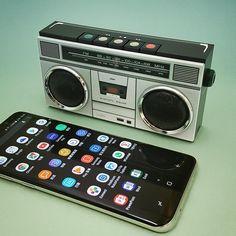 Boombox style - mini Bluetooth speaker - by hopkk