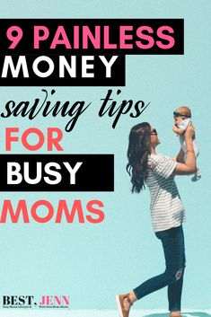 Are you a busy mama looking for ways to save extra money? Check out these 9 painless money saving tips for busy moms Save Money On Groceries, Ways To Save Money, Money Tips, Money Saving Tips, How To Make Money, Household Expenses, Money Saving Challenge, Saving For Retirement, Budgeting Money