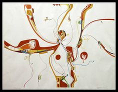 Alex Janvier -- Red Eagle (1975)